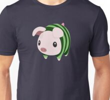 Poogie Piggie Monster Hunter Print Watermelon Unisex T-Shirt