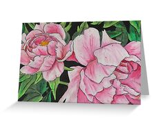 Peony Blooms Greeting Card