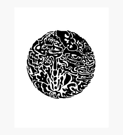 Black and white abstract circle Photographic Print