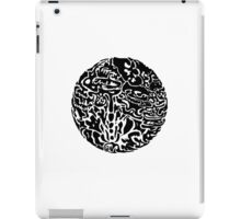 Black and white abstract circle iPad Case/Skin