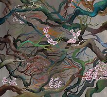 Twisted Cherry Blossom Branches by ArtbyJoShmo