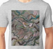 Twisted Cherry Blossom Branches Unisex T-Shirt