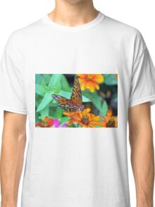 Monarch Butterfly Resting Classic T-Shirt