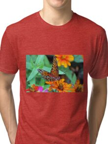 Monarch Butterfly Resting Tri-blend T-Shirt