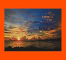 Serenity Prayer Sunset By Sharon Cummings Kids Clothes