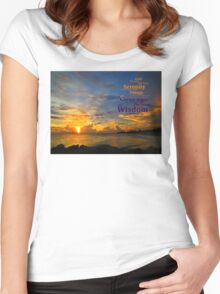 Serenity Prayer Sunset By Sharon Cummings Women's Fitted Scoop T-Shirt