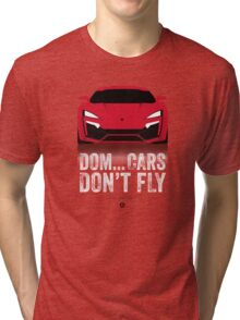 Cinema Obscura Series - The Fast & the Furious - Cars Don't Fly Tri-blend T-Shirt