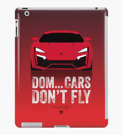 Cinema Obscura Series - The Fast & the Furious - Cars Don't Fly iPad Case/Skin