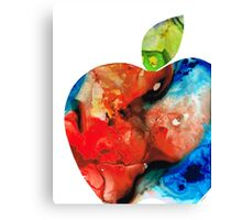 An Apple A Day - Colorful Fruit Art By Sharon Cummings  Canvas Print