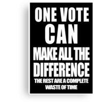 One Vote (Negative) Canvas Print