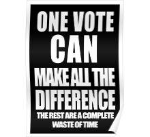 One Vote (Negative) Poster
