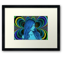 Blue Contemplation Framed Print