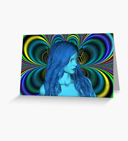 Blue Contemplation Greeting Card