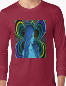 Blue Contemplation Long Sleeve T-Shirt