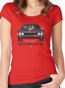Cinema Obscura Series - The Fast & the Furious - Quarter Mile Women's Fitted Scoop T-Shirt