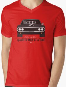 Cinema Obscura Series - The Fast & the Furious - Quarter Mile Mens V-Neck T-Shirt