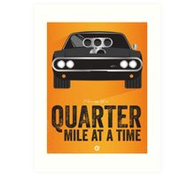 Cinema Obscura Series - The Fast & the Furious - Quarter Mile Art Print