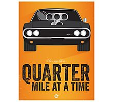 Cinema Obscura Series - The Fast & the Furious - Quarter Mile Photographic Print