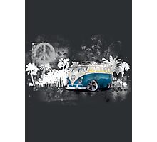 Splitty Grunge (W) Photographic Print