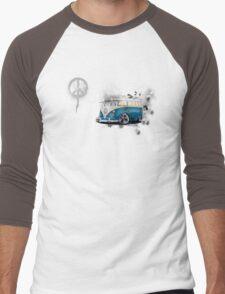 Splitty Grunge (W) Men's Baseball ¾ T-Shirt