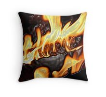 fire with plastic effect added Throw Pillow