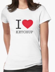 I ♥ KETCHUP Womens Fitted T-Shirt