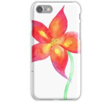 Fire Flower Watercolor iPhone Case/Skin