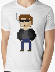 Pixel Hank Moody Mens V-Neck T-Shirt