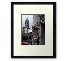 Smith Tower with Walrus Framed Print