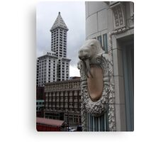 Smith Tower with Walrus Metal Print