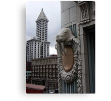 Smith Tower with Walrus Canvas Print