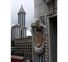 Smith Tower with Walrus Photographic Print
