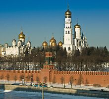 Moscow Kremlin churches by igorsin