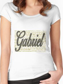 Gabriel quotes Women's Fitted Scoop T-Shirt