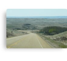 Coming Into The Badlands by Drumheller Alberta Canvas Print