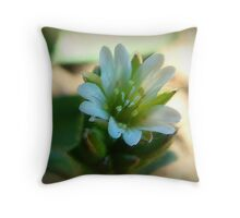 A Really Tiny Flower Throw Pillow