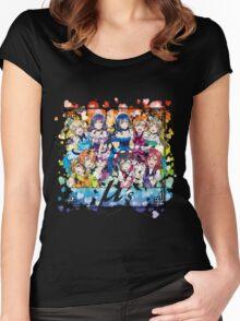 μ's (KiRa KiRa Sensation camo edit.) Women's Fitted Scoop T-Shirt