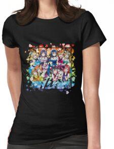 μ's (KiRa KiRa Sensation camo edit.) Womens Fitted T-Shirt