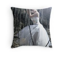 whispering woods Throw Pillow