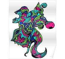 Abstract Seahorse Poster