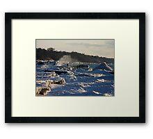 winter shores Framed Print