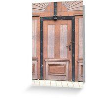 A Pink Door Greeting Card
