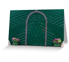 A Green Door Greeting Card