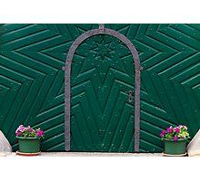 A Green Door Photographic Print
