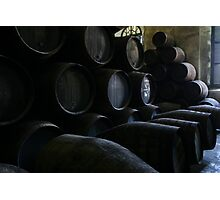 wine barrels Photographic Print