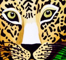 Leopard naive painting Sticker