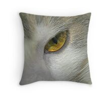 The Eye of the Cat Throw Pillow