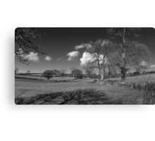 Winter Clouds Roll over the Mendips Canvas Print