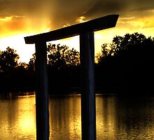Golden Evening - Sunset Fremont State Lakes  by Rob & Jenni Erickson