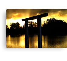 Golden Evening - Sunset Fremont State Lakes  Canvas Print